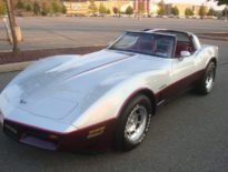 1982 Corvette Silver and Dark Claret